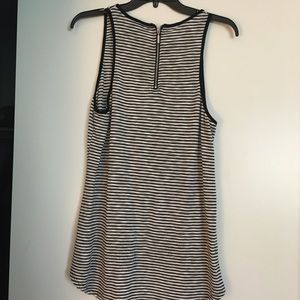 Black and white striped tunic tank